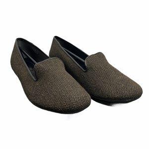 pluggz Dido Brown & Black Herringbone Loafer